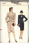 Vogue 8845 Career Suit Pattern Size 12 UNCUT