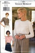 Vogue Woman 8911 Blouse Pattern