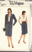 Vogue 8926 Jacket Skirt Blouse Pattern UNCUT Size 12