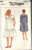 Vogue 8958 Maternity Dress Pattern UNCUT Size 12