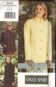 Vogue 9133 Jacket Pattern 14-16-18 Uncut