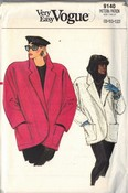 Vogue 9140 Coat Jacket Pattern 8-10-12
