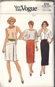 Vogue 9250 Slim Pencil Skirt Pattern UNCUT