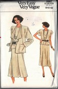 Vogue 9362 Jacket Skirt Top Pattern UNCUT
