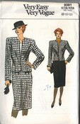 Vogue 9391 Classic Suit Pattern UNCUT
