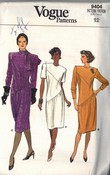 Vogue 9404 Fitted Diagonal Look Dress Pattern UNCUT