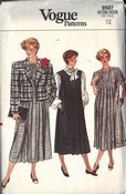 Vogue 9507 Maternity Dress Jacket Sewing Pattern Size 12