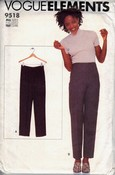 Vogue Elements 9518 Pants Pattern UNCUT