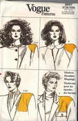 Vogue 9697 Shoulder Pad Pattern UNCUT