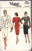 Vogue 9748 Suit Pattern 12-14-16 UNCUT