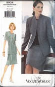 Vogue 9934 Career Suit Pattern 20-22-24 UNCUT