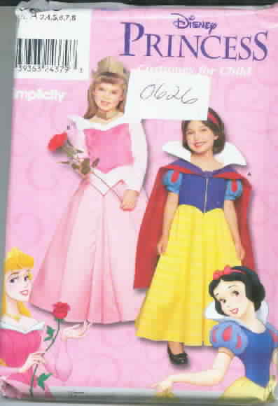 Simplicity 0626 Disney Princess Costume Pattern