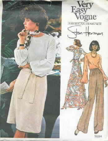 Vogue 1084 Stan Herman Vintage Pattern Uncut