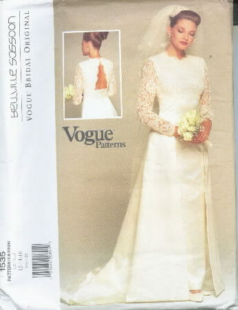 Belleville Sassoon Bridal Gown Pattern-12-14-16 Vogue 1535