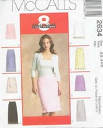 McCalls 2634 Skirt Sewing Pattern Various Styles UNCUT