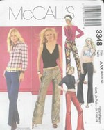 McCalls 3348 Low Rise Pants Sewing Pattern UNCUT