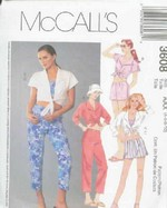 McCalls 3608 Shirt Top Capris Shorts Sewing Pattern UNCUT