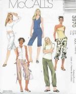 McCalls 3970 Pants Sewing Pattern UNCUT