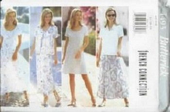 French Connection Designer Pattern Butterick 4493 Dress Top Skir