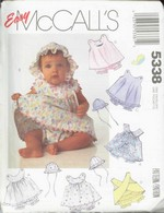McCalls 5338 Infant Sundress Hat UNCUT