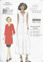 Vogue 7724 Koko Beall Dress Sewing Pattern UNCUT