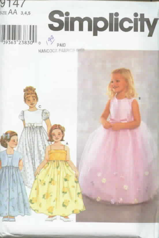 Simplicity 9147 Child's Dress and Jacket UNCUT
