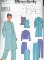 Simplicity 9572 Easy Chic Ensemble Sewing Pattern UNCUT