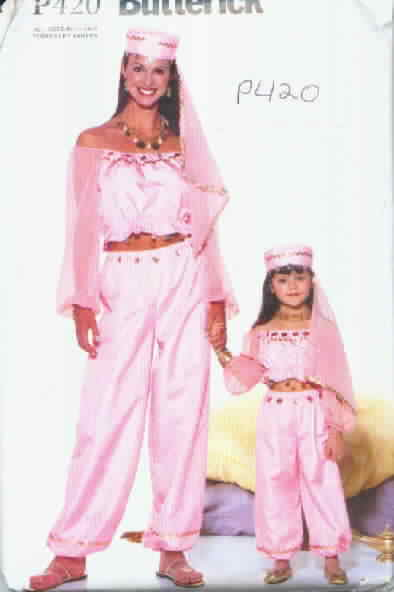 Butterick P420 Genie Mother Daughter Costume Pattern