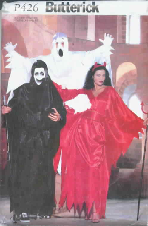 Butterick P426 Ghost, Scream Costumes All Sizes