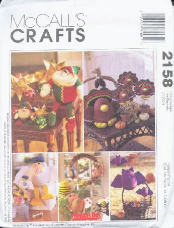 McCall's 2158 Seasonal Decorations - Uncut