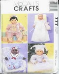 Doll Clothes Pattern Baby Dolls McCall's 777