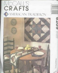 McCalls 8209 Quilted Accessories Pattern UNCUT