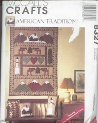McCalls 8327 Quilted Accessories Pattern UNCUT