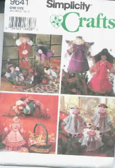 Simplicity Crafts 9641 Angel Treetopper, more UNCUT