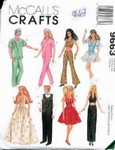 Glamour & Sports Doll Clothes Barbie McCall's 9663